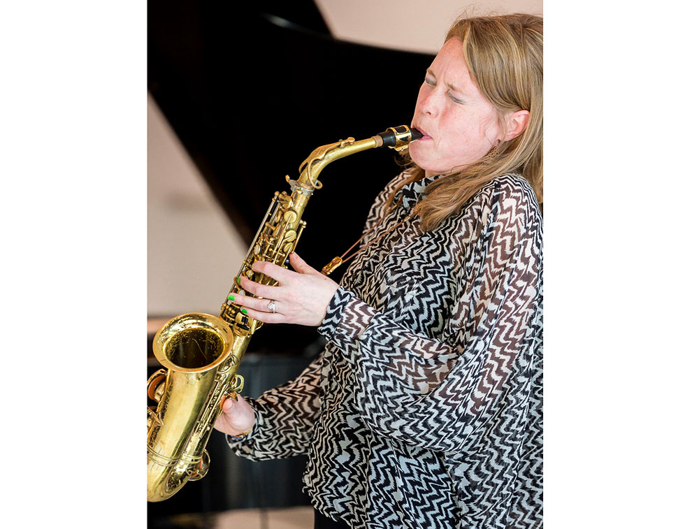 Dutch jazz sax musician Tineke Postma